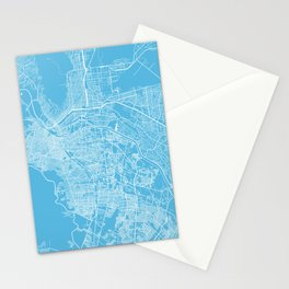 El Paso map blue Stationery Cards