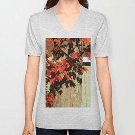 Bright Leaves, Deep Shadows Unisex V-Neck
