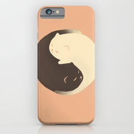 Hidden cat 9 Yin Yang kitty iPhone Case
