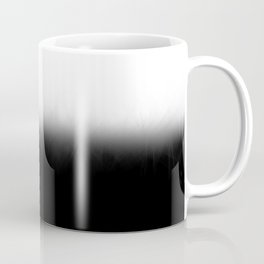 Black White Split Fade Coffee Mug