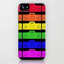 Gay Disco! Cool Rainbow Ghetto Blaster Pattern Design! iPhone Case