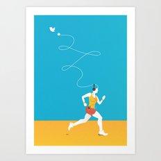 Plug yourself out Art Print