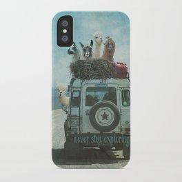 ALPACA WANDERLUST II SUMMER EDITION iPhone Case