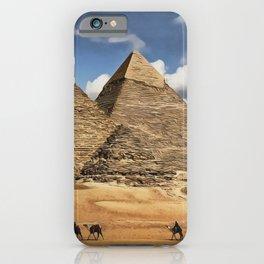 0M-101 - Egypt Pyramids of Giza, Afican desert scenery, Desert pyramids Travel art, Africa Art decor,  iPhone Case