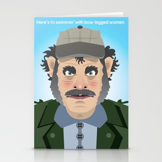 Jaws Quint Stationery Cards