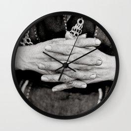Working Hands Wall Clock