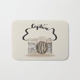 Cute Camera Typography Bath Mat
