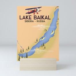 Lake Baikal Siberia Russian travel poster Mini Art Print