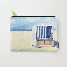 Sylt Watercolor Beach Painting Carry-All Pouch