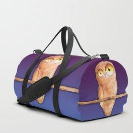 Owl watercolor Duffle Bag