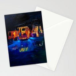 Boat Flotilla at Night at Octopus Island Stationery Cards