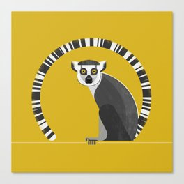 Ring Tailed Lemur Canvas Print