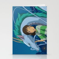 spirited away Stationery Cards featuring Spirited away by Susan Lewis
