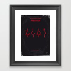 No066 My predator minimal movie poster Framed Art Print