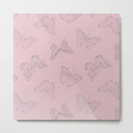 Metamorphasis - Pink Metal Print