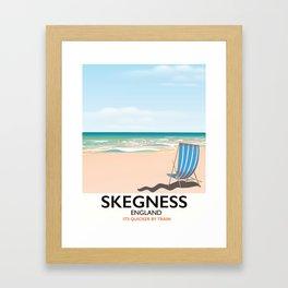 Skegness vintage style railway poster Framed Art Print