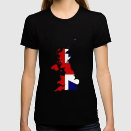 United Kingdom Map and Flag T-shirt