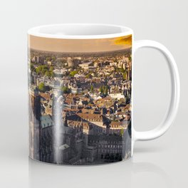 Majestic sunset at Strasbourg Cathedral Coffee Mug
