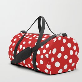 Red and white doodle dots Duffle Bag