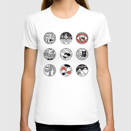 blurry icons T-shirt