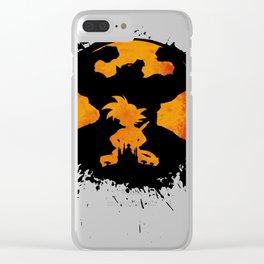 Goku Dragon Ball King Monkey Saiyan Primitive Clear iPhone Case