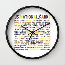 Rainbow National Park List Wall Clock