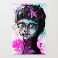 sister Canvas Prints featuring SIsTeR by SannArt