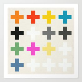 Crosses II Art Print