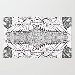 Black and White Zen Doodle Rug