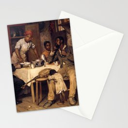 African American Masterpiece 'A Pastoral Visit' by Richard Norris Brooke Stationery Cards