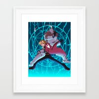 full metal alchemist Framed Art Prints featuring Full Metal Alchemist by chaichino