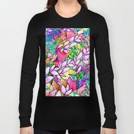 Grunge Art Floral Abstract G130 Long Sleeve T-shirt