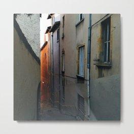 Winding Stairway in Lyon, France Metal Print
