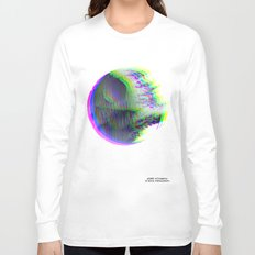 Death Star Glitch Wars Long Sleeve T-shirt