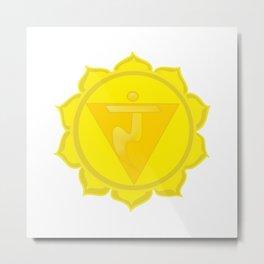 Manipura Chakra Solar Plexus chakra Yoga Metal Print