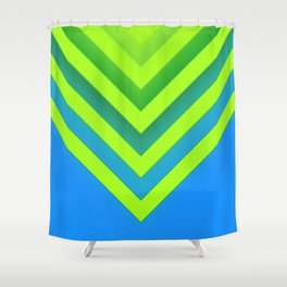 Sky & Lime Chevron Shower Curtain