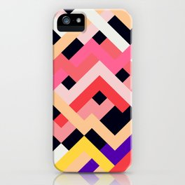 Coral&Black No. 1 iPhone Case