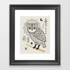 Hypno Owl Framed Art Print