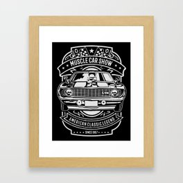 muscle car show american classic legend Framed Art Print