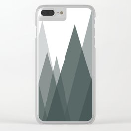 Green Mountains Abstract Landscape Clear iPhone Case