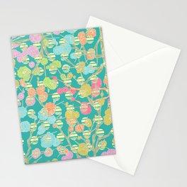 Cherry Blossom Blue Stationery Cards