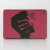 casablanca iPad Cases featuring The Man who Knew Too Much - Alfred Hitchcock Movie Poster Minimal by Stefanoreves