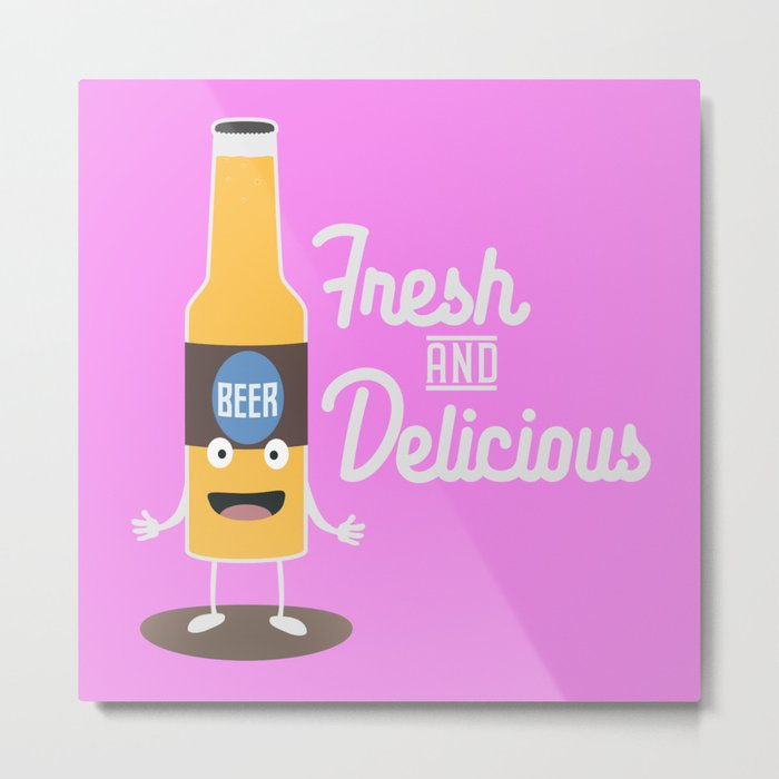 Beerbottle fresh and delicious Bdm8l Metal Print