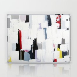 "No. 31 - Print of Original Acrylic Painting on canvas - 16"" x 20"" - (White and multi-color) Laptop & iPad Skin"