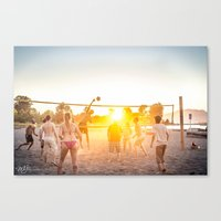 volleyball Canvas Prints featuring Beach Volleyball by MJ Blanchet