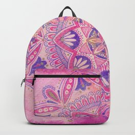 Magenta Bohemian Mandala Backpack