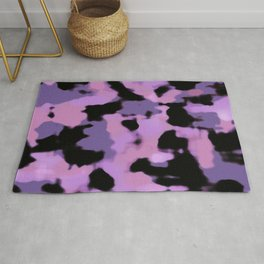 Abstract Camouflage: Purple Rug
