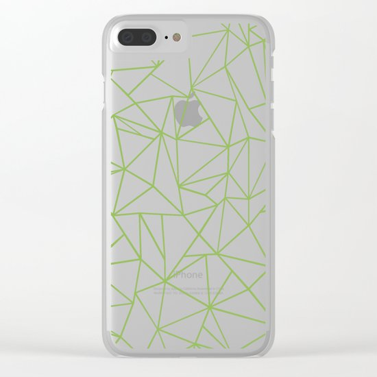 Ab Outline Greeny Clear iPhone Case
