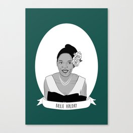 Billie Holiday Illustrated Portrait Canvas Print