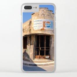 Paphos Old Supermarket (Colour Version) Clear iPhone Case